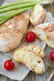 Ciabatta del pan fresco Imagen de archivo libre de regalías