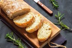 Ciabatta do pão italiano imagens de stock