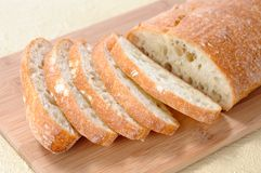 Ciabatta flat bread Royalty Free Stock Photos