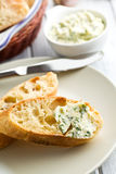 Ciabatta with herb butter Stock Image