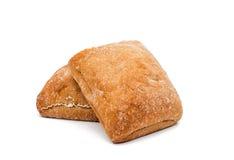 Ciabatta (Italiaans brood) Stock Foto's