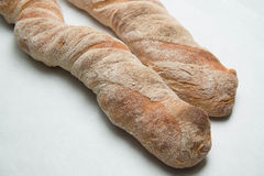 Ciabatta loaves of bread  background Stock Image