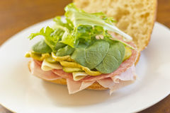 Ciabatta Roll Sandwich Royalty Free Stock Photography