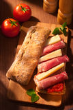 Ciabatta sandwich Stock Photography