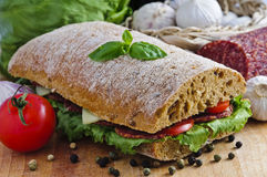 Ciabatta Sandwich Stock Images