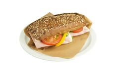 Ciabatta sandwich. Royalty Free Stock Images
