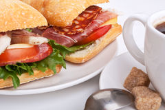 Ciabatta sandwich Stock Photos