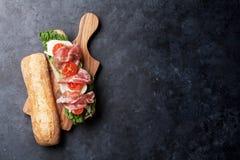 Ciabatta Sandwich Stock Photos