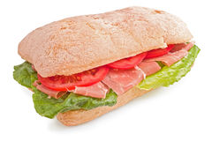 Ciabatta sandwich with prosciutto Stock Photo