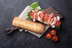 Ciabatta smörgås royaltyfria foton