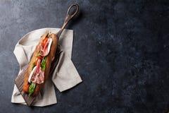 Ciabatta smörgås royaltyfri fotografi