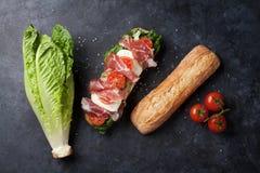 Ciabatta smörgås royaltyfri bild