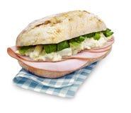 Ciabatta smörgåssparris med den snabba banan Royaltyfria Bilder
