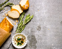 Free Ciabatta Wrapped In Paper With Rosemary And Oil. Royalty Free Stock Image - 64811696