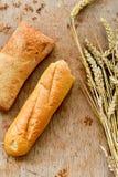 Ciabatta y pan del baguette Fotos de archivo libres de regalías