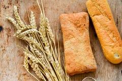 Ciabatta y pan del baguette Fotografía de archivo
