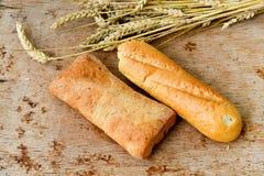 Ciabatta y pan del baguette Foto de archivo libre de regalías