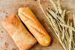 Ciabatta y pan del baguette Imagen de archivo libre de regalías