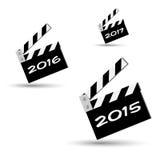 Ciack do ano novo Fotos de Stock