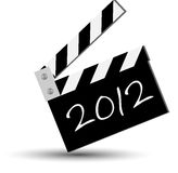 Ciak 2012. Blackboard for new 2012 year Royalty Free Stock Images