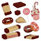 Cialde, cioccolato Fotografia Stock Libera da Diritti