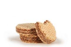 Cialde con la crema del cacao Immagini Stock