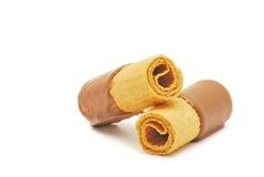 Cialde del cioccolato Immagini Stock