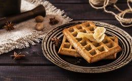 Cialde dello zenzero con miele Immagini Stock
