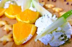 Cialde, gelato, frutta fresca Immagini Stock Libere da Diritti