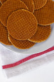 Cialde olandesi del caramello Fotografia Stock