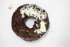 Ciambella del cioccolato del carbone Fotografia Stock