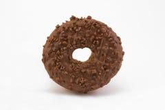 Ciambella del cioccolato sopra bianco Fotografia Stock Libera da Diritti
