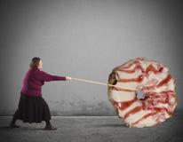 Ciambella gigante Fotografia Stock