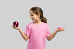 Ciambella o Apple fotografia stock