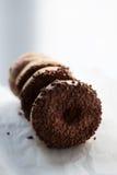 Ciambelle del cioccolato Fotografie Stock Libere da Diritti