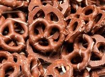Ciambelline salate del cioccolato fotografie stock