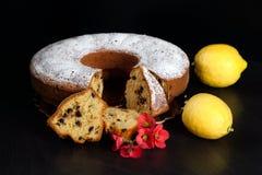 Ciambellone με το λεμόνι τσιπ σοκολάτας αρωματικό Στοκ φωτογραφία με δικαίωμα ελεύθερης χρήσης