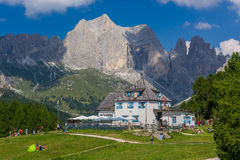 Ciampedie Mountain Hut Royalty Free Stock Photography
