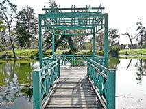 Cian Bridge en un lago Imagen de archivo libre de regalías