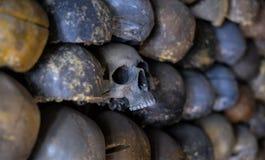 Ściana czaszki Obrazy Royalty Free