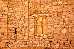 Ściana dom w fortecy Ait Ben Haddou Obraz Royalty Free