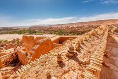 Ściana dom w fortecy Ait Ben Haddou Fotografia Royalty Free