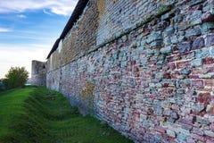 Ściana forteczny Oreshek Shlisselburg Rosja Zdjęcie Royalty Free