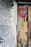 Ściana i drewno Obrazy Stock