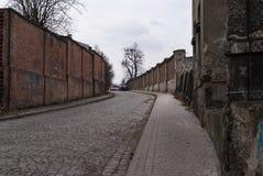 Ściana i droga Obrazy Royalty Free