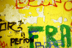 Ściana i listy Fotografia Stock