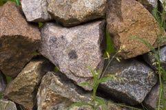 Ściana kamienie Zdjęcia Royalty Free
