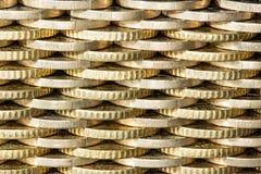Ściana monety, wzór Zdjęcia Royalty Free