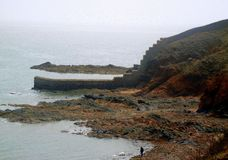 Ściana na morzu obraz stock