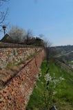 Ściana na Petrovaradin fortecy w Novi Sad Zdjęcie Stock